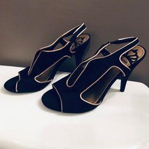 Fergalicious by Fergie Sandals Peep Toe Heels -7.5